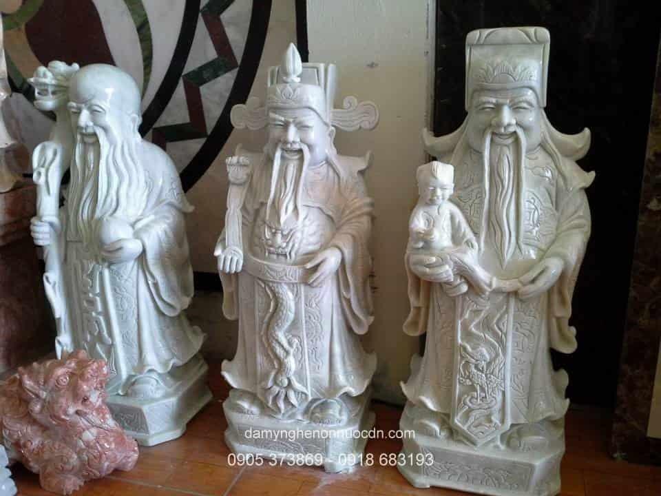Tượng Phúc Lộc Thọ - đá mỹ nghệ Thành Đô