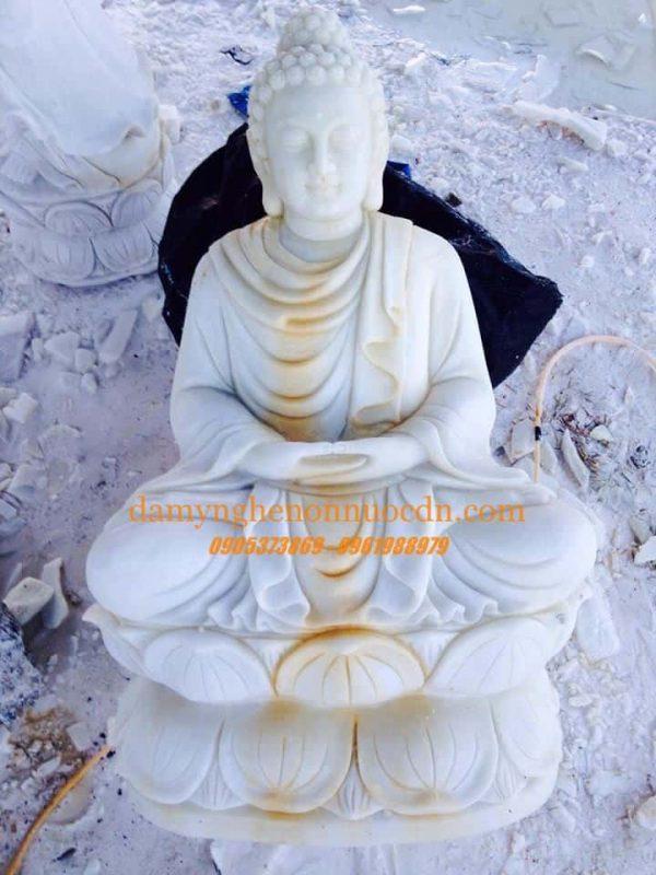 Tượng Phật Thích Ca đá trắng