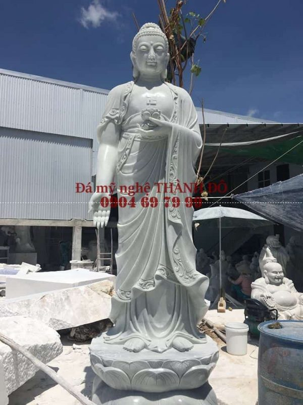 Tượng Phật A Di Đà bằng đá cẩm thạch