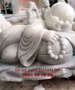 Tượng Chú Tiểu bằng đá trắng tự nhiên
