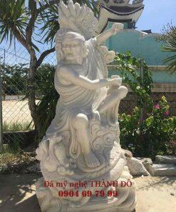 Tượng La Hán Hàng Long bằng đá