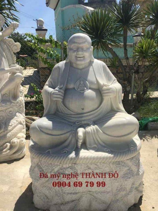 Tượng La Hán Khai Tâm bằng đá