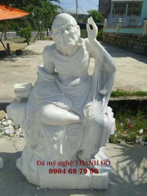 Tượng La Hán Khoái Nhĩ bằng đá