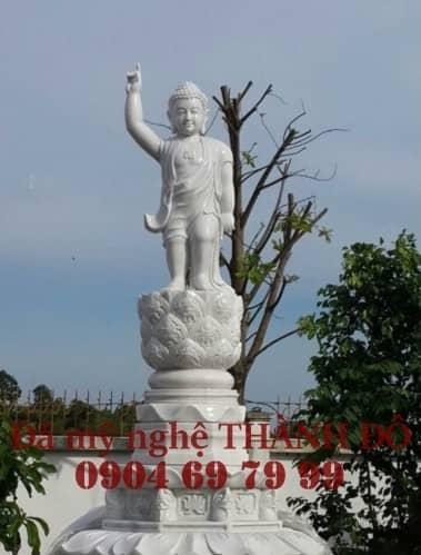 Tượng Phật Đản Sanh đá tự nhiên nguyên khối