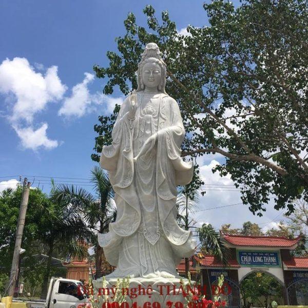Tượng Phật Quan Âm bằng đá 4m