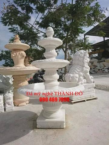 Đài phun nước đá cẩm thạch trắng