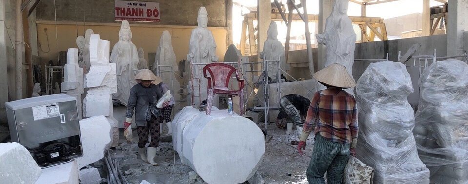 Xưởng đá Non Nước Đà Nẵng chỉ điêu khắc tượng bằng đá tự nhiên 100%