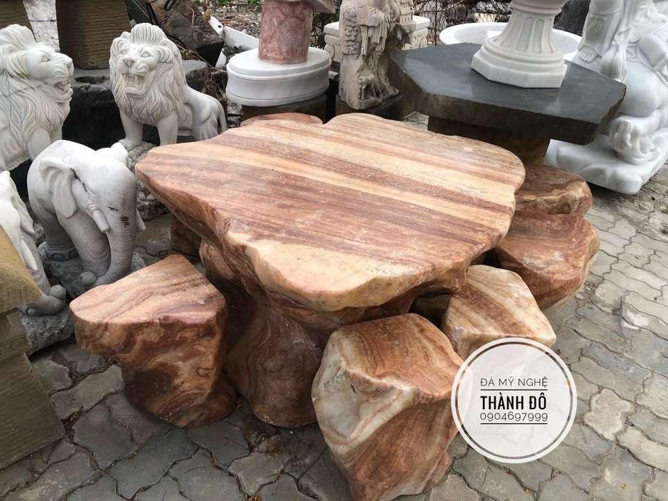 Bàn ghế đá vân gỗ