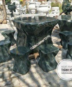 Bộ bàn ghế đá xanh Ấn Độ