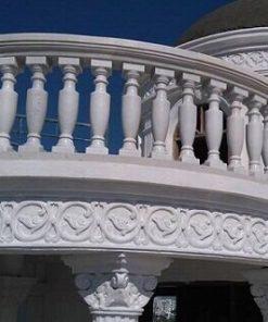 Lan can đá cẩm thạch trắng biệt thự nhà ở
