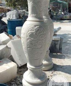 Lục bình đá cẩm thạch trắng