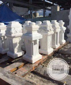 Trụ Lan can đá cẩm thạch trắng
