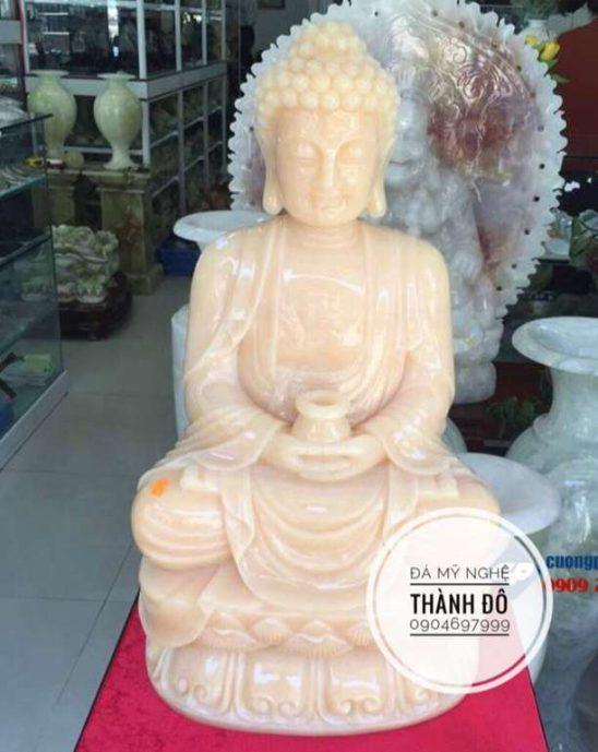Tượng Phật A Di Đà đá ngọc Hoàng Long