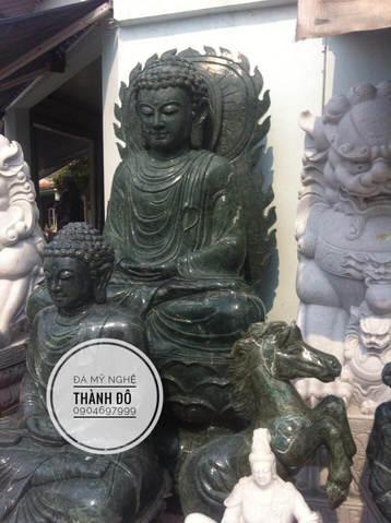 Tượng Phật Thích Ca Mâu Ni bằng đá ngọc Ấn Độ