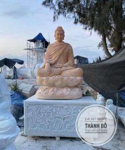 Tượng Phật Thích Ca đá vàng cà rốt