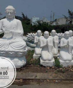 Tượng Phật Thích Ca thuyết Pháp cho 5 anh em Kiều Trần Như