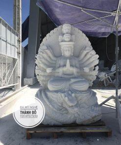 Tượng Phật bà Quan Âm nghìn tay nghìn mắt cưỡi rồng