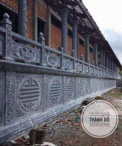 Tường rào lan can đá cho nhà chùa