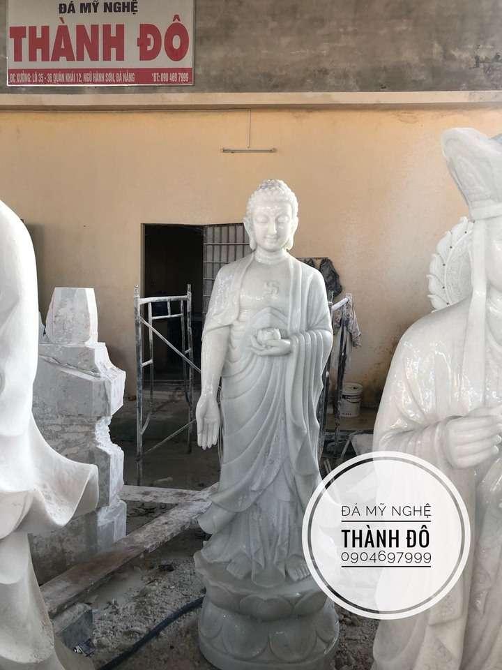 Phật Thích Ca và Phật A Di Đà bằng đá do cơ sở Thành Đô chế Tác