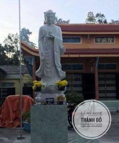 Tượng Phật A Di Đà cao 2.6m được thình về an vị tại Bạc Liêu