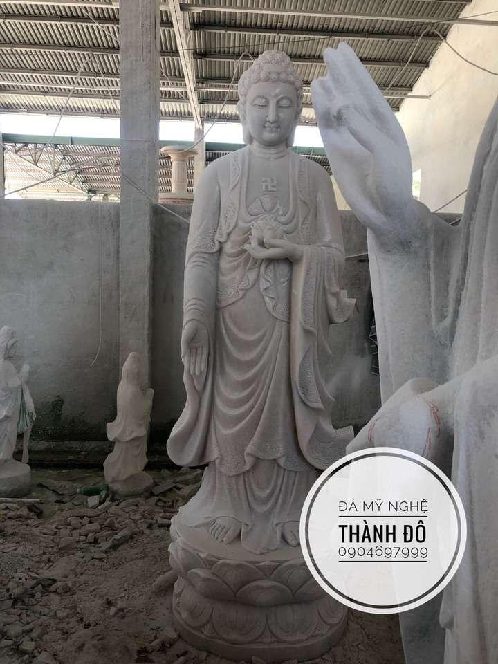 Tượng Phật A Di Đà đá tự nhiên 2.5m