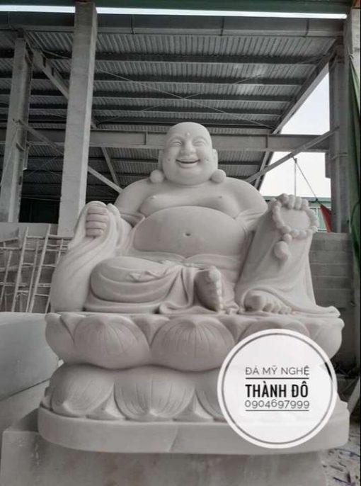 Tượng Phật Di Lặc ngồi đài sen