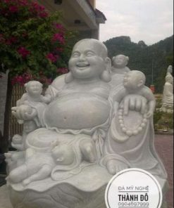 Tượng Phật Di Lặc ngũ phúc bằng đá
