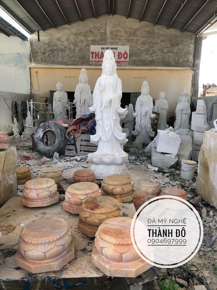 Tượng Phật Quan Âm đá mỹ nghệ Thành Đô
