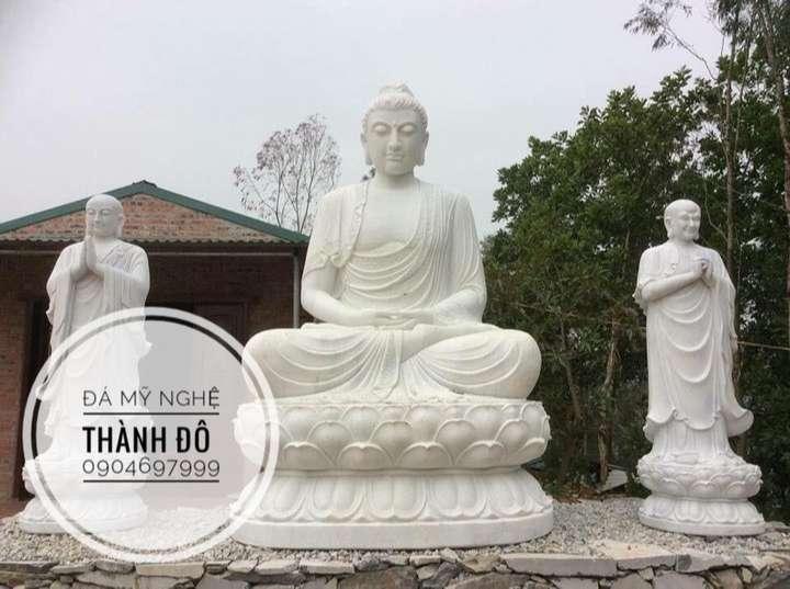 Tượng Phật Thích Ca cùng hai vị A Nan và Ca Diếp