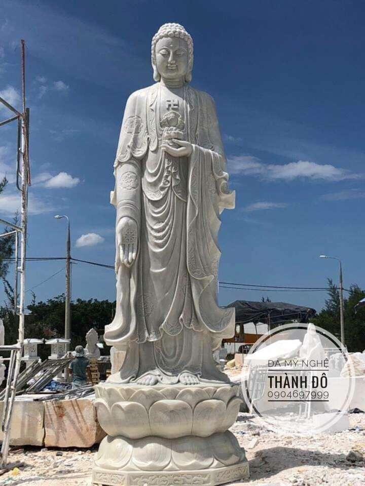 Tượng Phật A Di Đà đẹp bằng đá tự nhiên