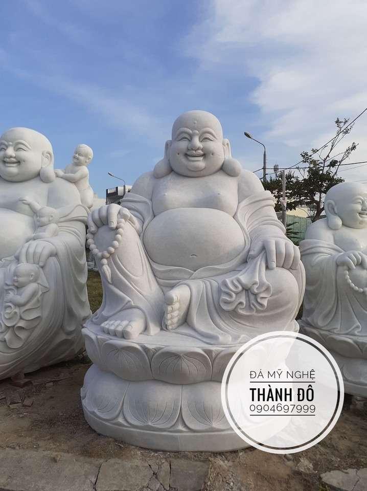 Tượng Phật đẹp - Phật Di Lặc ngồi đài sen