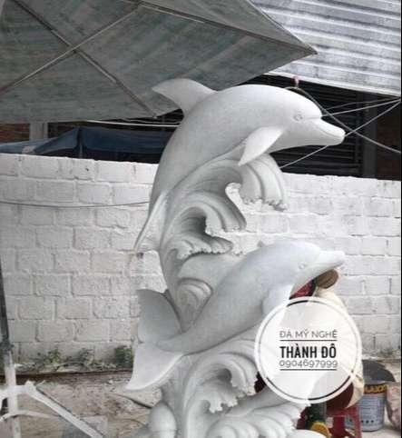 Tượng cá heo đá cẩm thạch