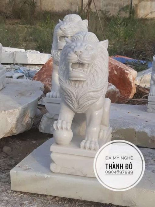 Tượng sư tử đá 1m