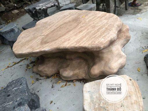 Bàn đá vân gỗ tự nhiên