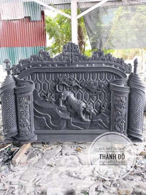 Bình phong lăng mộ đá đen
