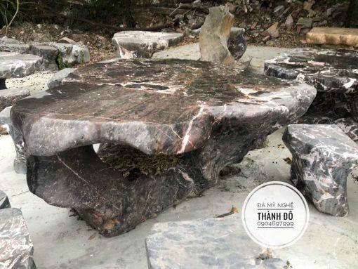 Bộ bàn đá nguyên khối đẹp