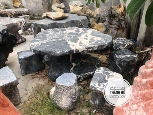 Bộ bàn đá tự nhiên nguyên khối