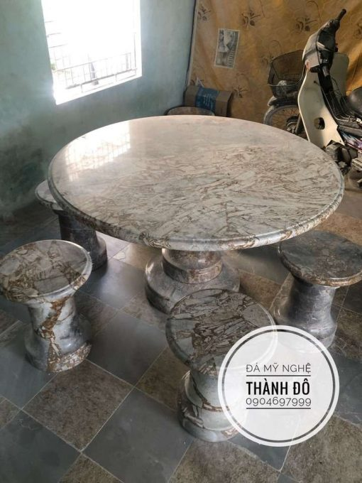 Bộ bàn tròn đá tự nhiên