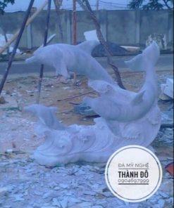 Tượng cá heo phong thủy đá tự nhiên