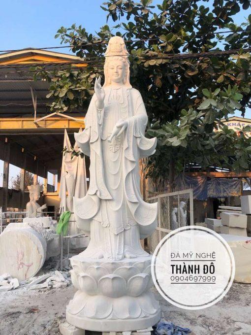 Tượng Phật Bà Quan Âm đá tự nhiên 5m