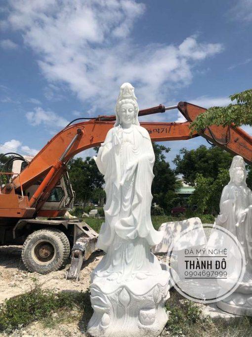 Tượng Phật Quan Âm bằng đá 3.5m