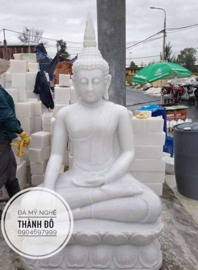 Tượng Phật Thích Ca bằng đá 1.8m