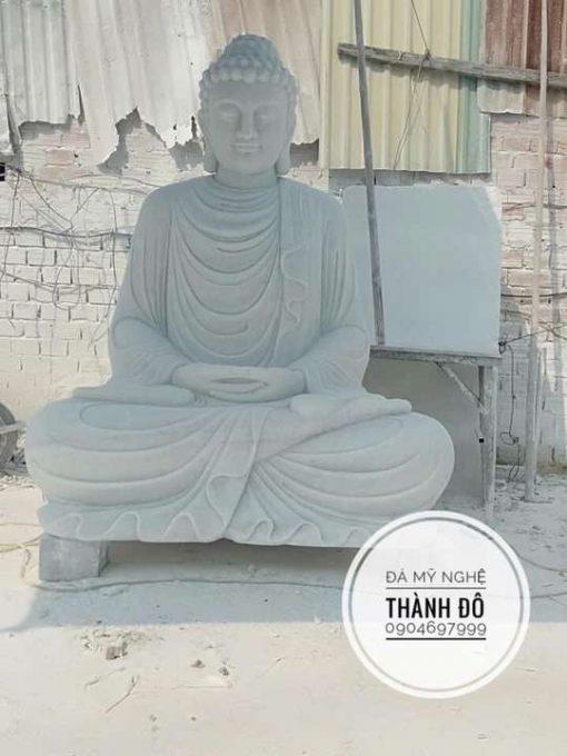 Tượng Phật Thích Ca đá cẩm thạch trắng