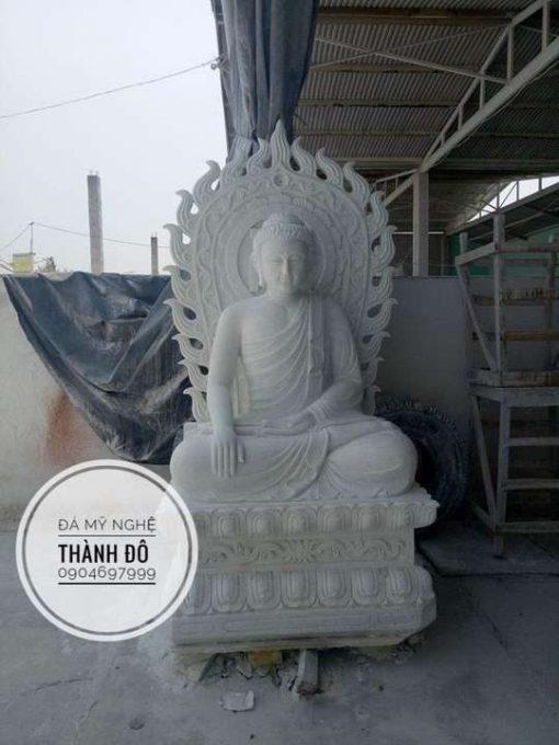 Tượng Phật Thích Ca đá tự nhiên 2.5m