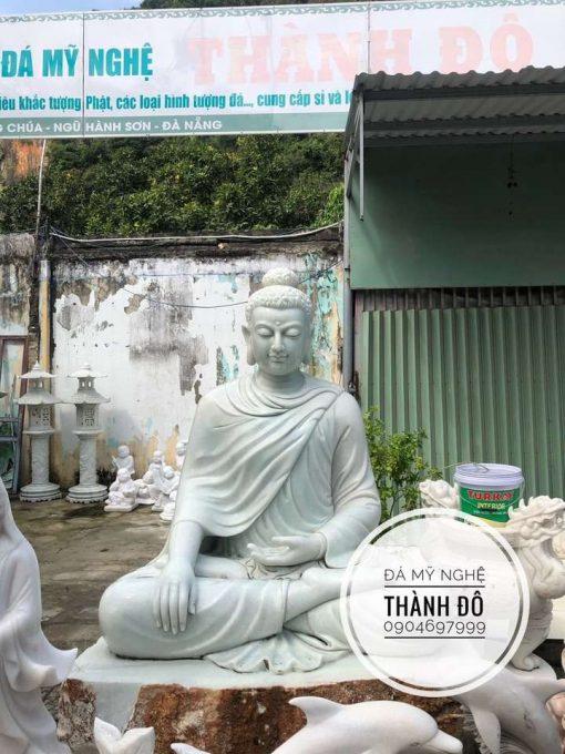 Tượng Phật Thích Ca đá xanh ngọc 2m