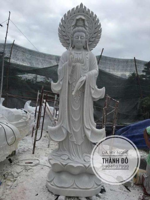 Tượng Quan Âm đá cẩm thạch 3.5m