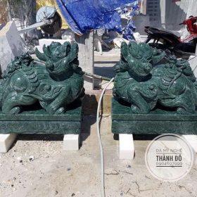 Tỳ hưu đá xanh ngọc Ấn Độ