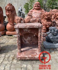 Bàn thờ Thần Tài Thổ Địa đá đỏ