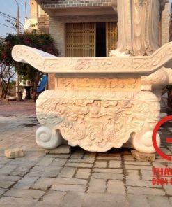 Bàn thờ thiên bằng đá cẩm thạch trắng tự nhiên