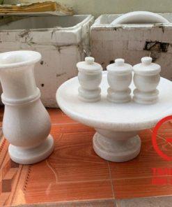 Bình hoa bằng đá trắng tự nhiên